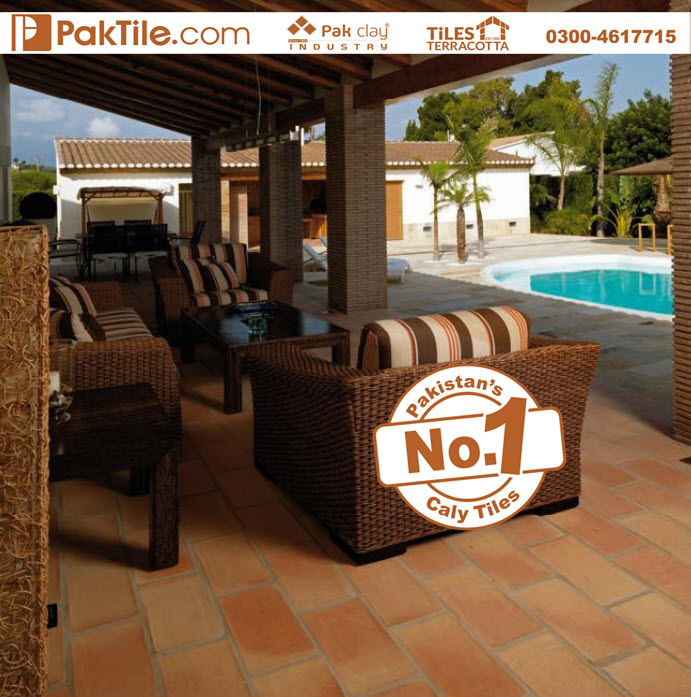 2 R Handmade High Quality Spanish Home Outdoor Veranda Red Bricks Floor Tiles in Lahore Pakistan Images