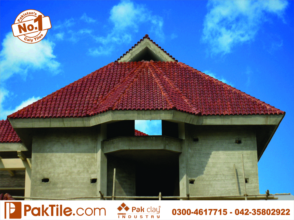 21 Pak clay color brown shiny glazed spanish roof shingles tiles design and price in lahore images