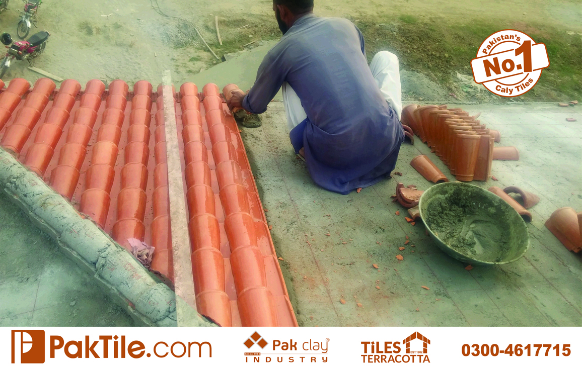 25 Pak clay outdoor red bricks spanish terracotta roof khaprail tiles shingles products images