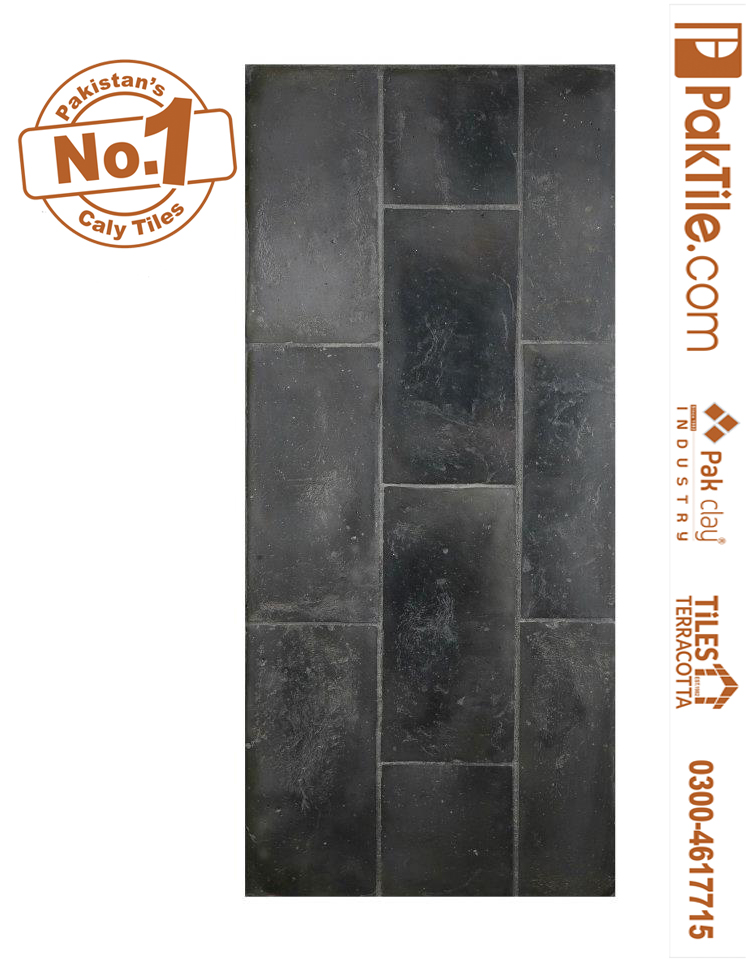Antique Black Grey Colors Terracotta Washroom Tiles Factory Store Price in Pakistan Images