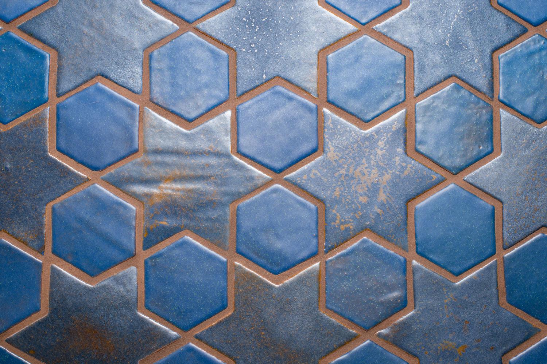 Glazed Blue Ceramic Tiles For Floors and Walls