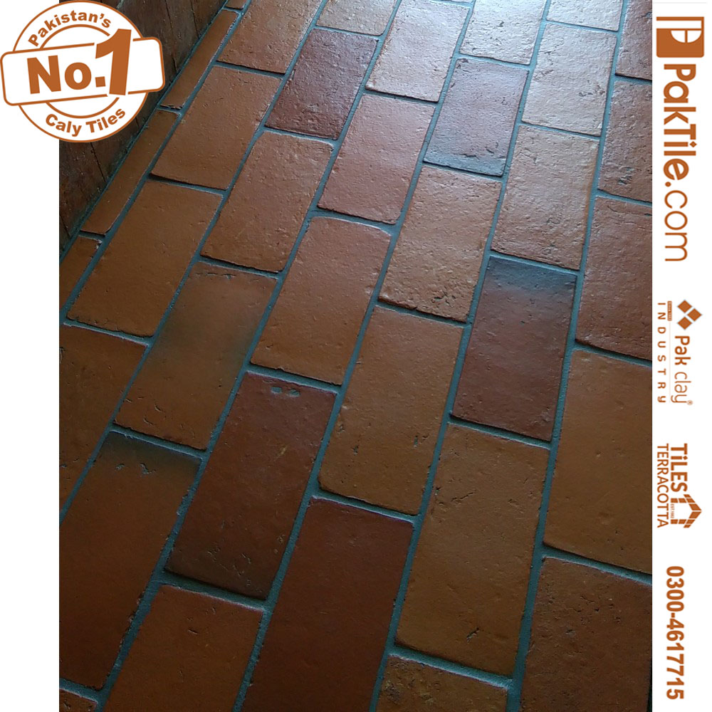 5 Pak Clay Grey Grout Garage Terracotta Tiles Patterns Factory in Faisalabad Pakistan Images