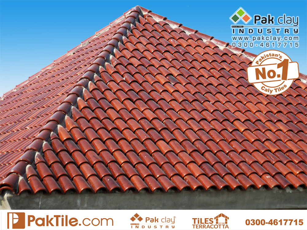 6 Pak clay front face home roof shingles khaprail tiles textures cheap factory stores rates in karachi pakistan images