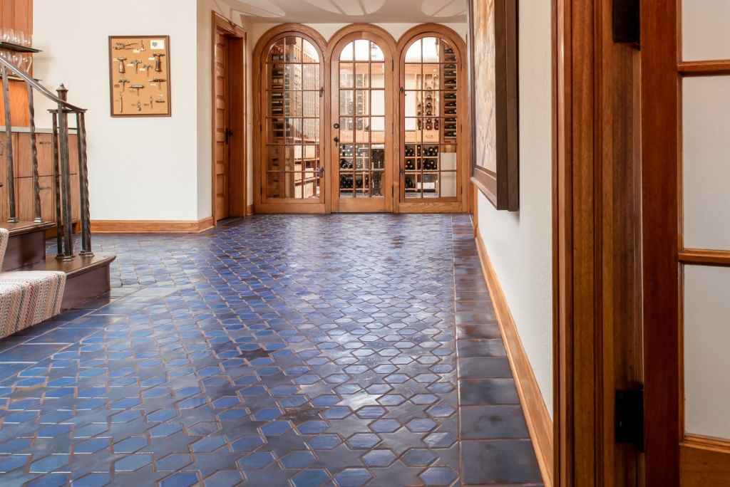 Colour Glazed Blue Ceramic Mosaic Tiles For Indoor Floor