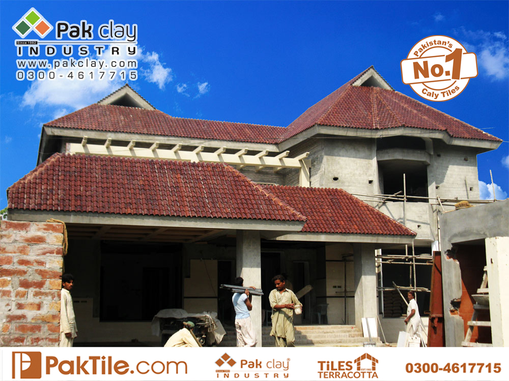 7 Pak clay front facing home roof shingles khaprail tiles textures cheap building materials factory outlet rates images