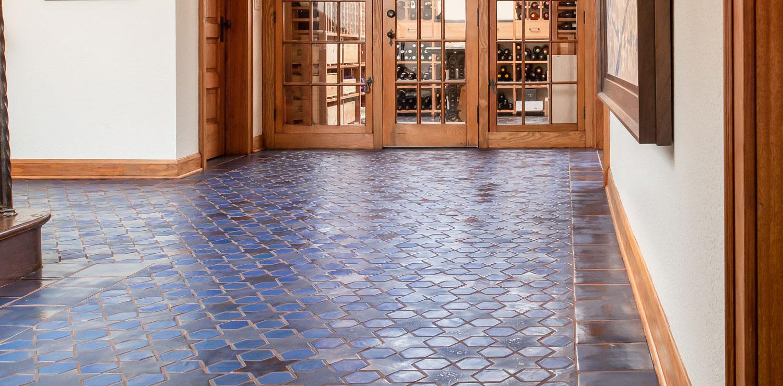 Colors Glazed Blue Porcelain Tiles For Interior Floor