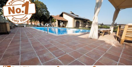 Pak clay turquoise and terracotta around stone look swimming pool tiles design store rates near me in faisalabad pakistan images