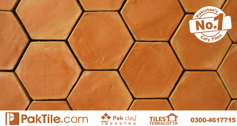 Tile Size 6x6 Inch Pak Clay Kitchen Terracotta Floor and Wall Hexagon Tiles Patterns near me Rawalpindi Images