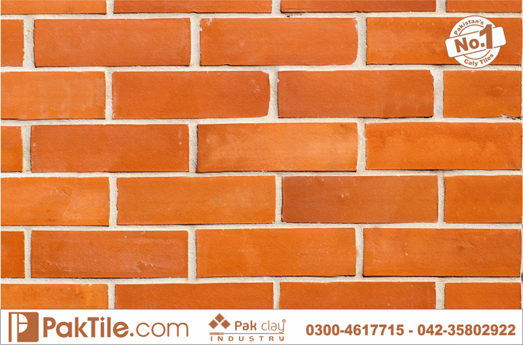 1 Pak Clay Red Gas Brick Wall Cladding Tiles Patterns Shop in Lahore Karachi Pakistan Images