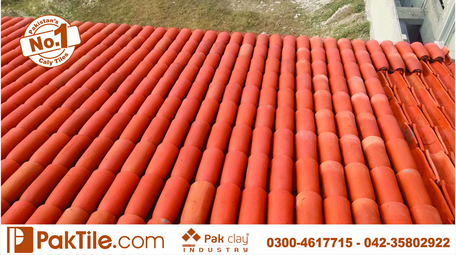 2 Pak Clay Red Gas Bricks Terracotta Roof Shingles Khaprail Tiles Designs Rates in Rawalpindi Pakistan Images