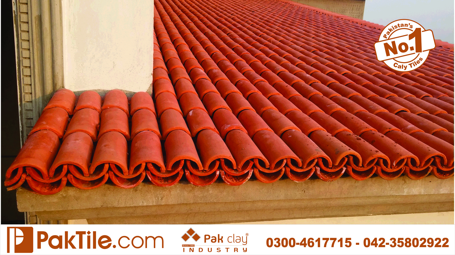 3 Pak Clay Red Gas Bricks Terracotta Roof Shingles Khaprail Tiles Design Shop Price in Karachi Pakistan Images