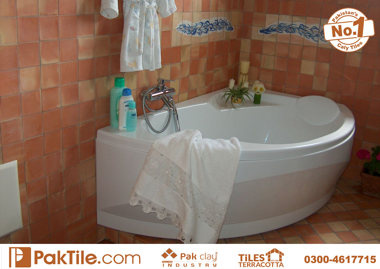 4 Pak Clay Terracotta Bathroom Wall Tiles Textures Rates in Lahore Karachi Pakistan Images