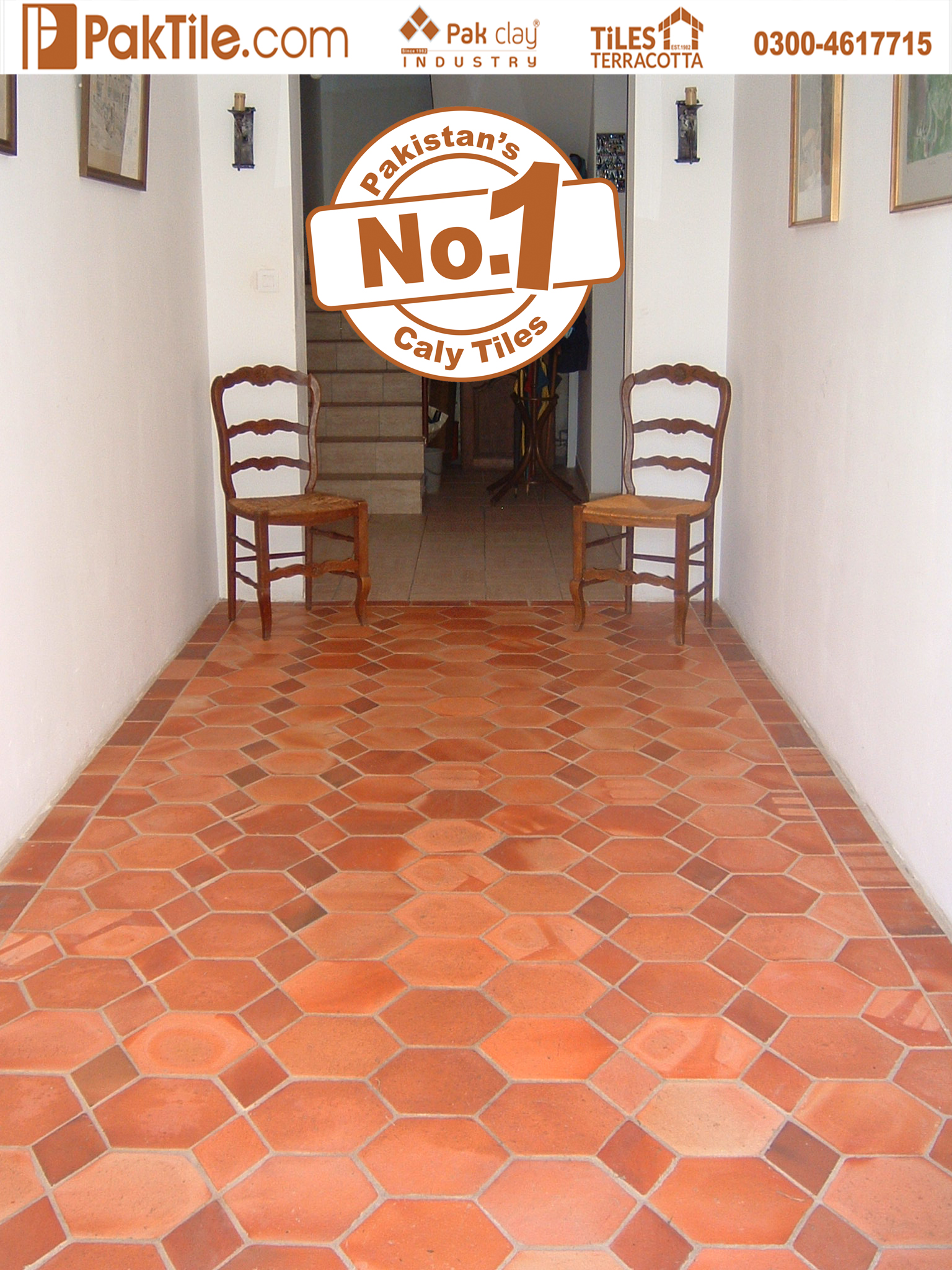 5 Hexagon Shape Red Brick Terracotta Living Room Flooring Tiles Prices in Islamabad Pakistan Photos