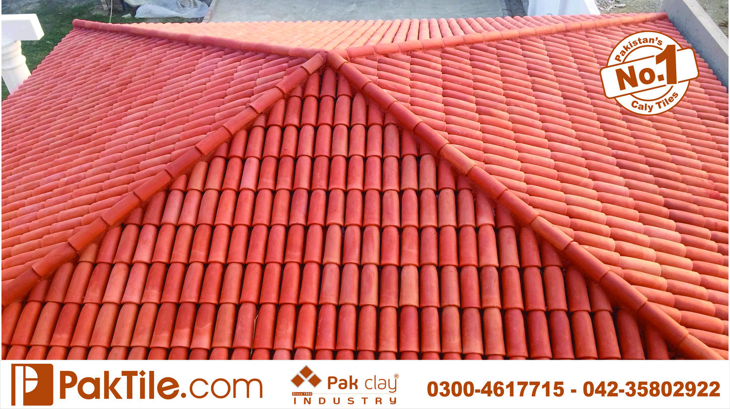 5 Pak Clay Roofing Materials Red Gas Bricks Shingles Khaprail Roof Tiles Design Rates in Lahorer Pakistan Images