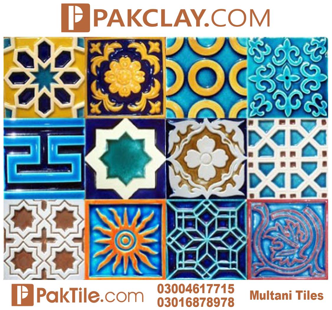 Pak clay blue multani tiles design islamabad