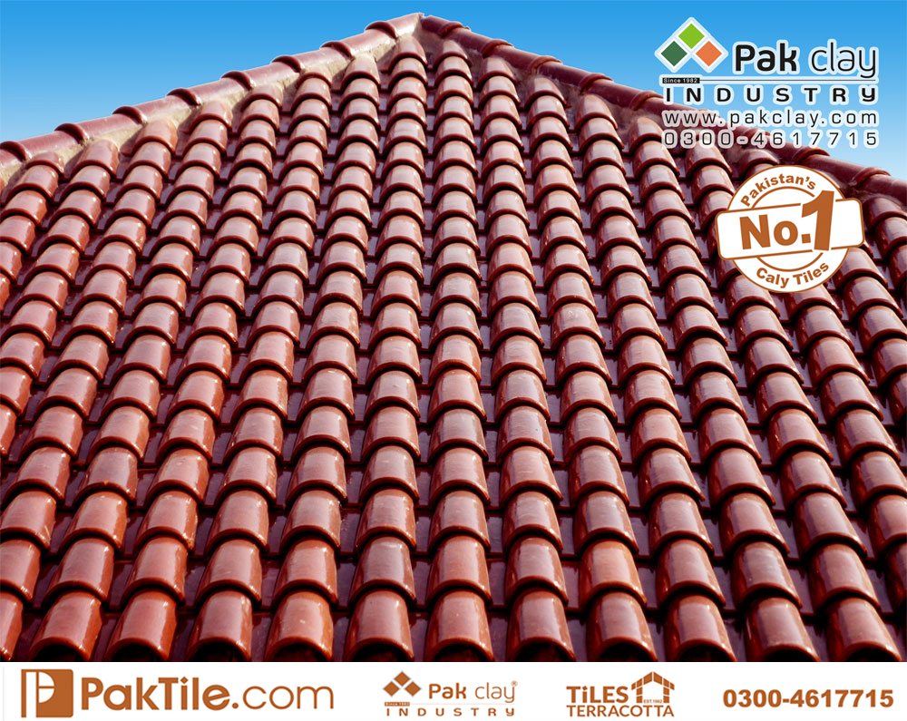 3 Pak clay heat resistant glazed khaprail roof tiles price in pakistan images