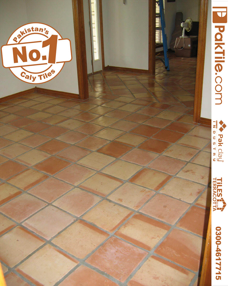 5 Pak Clay Natural Red Colour Flooring Tiles Traditional Tiles Pakistan Terracotta Indoor Livingroom Floor Tiles Rate in Pakistan Images