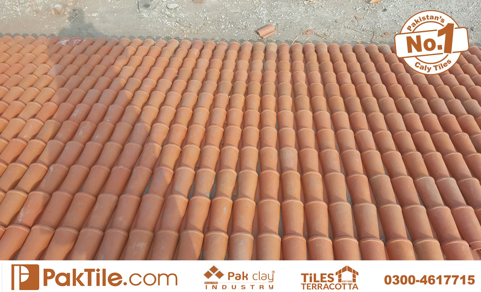 1 Pak Clay Terracotta Roofing Khaprail Tiles Rates in Karachi Images.