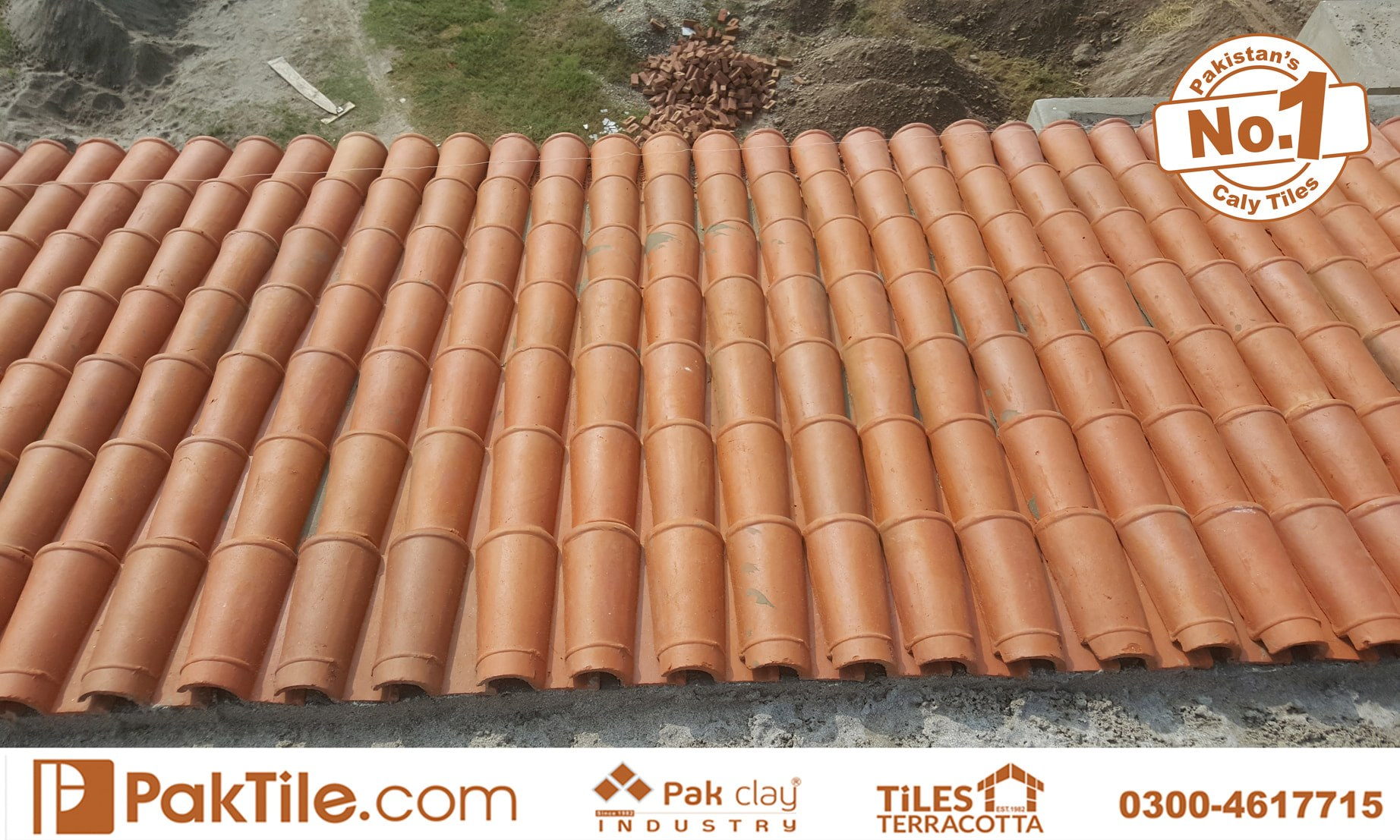 2 Pak Clay Terracotta Roof Khaprail Tiles in Lahore Images.