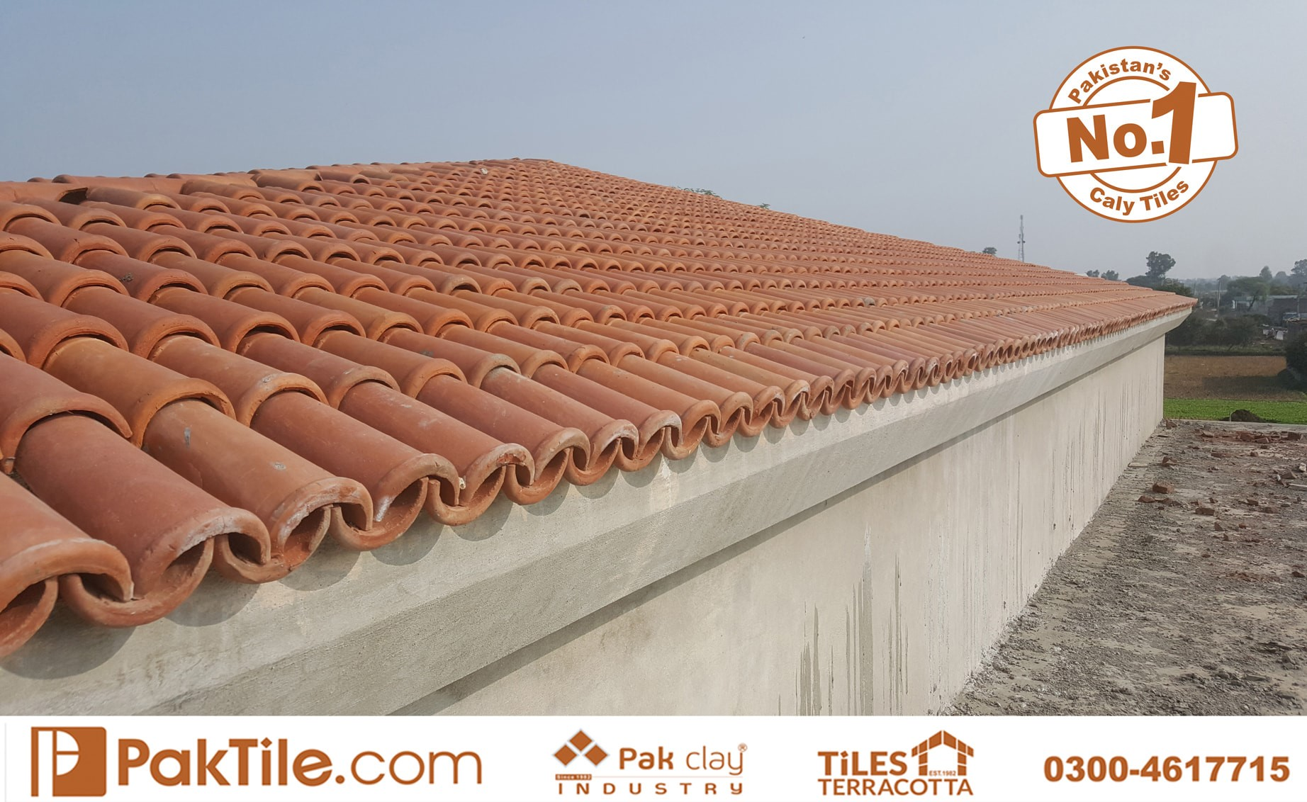 4 Pak Clay Red Terracotta Roofing Khaprail Tiles in Islamabad Images.