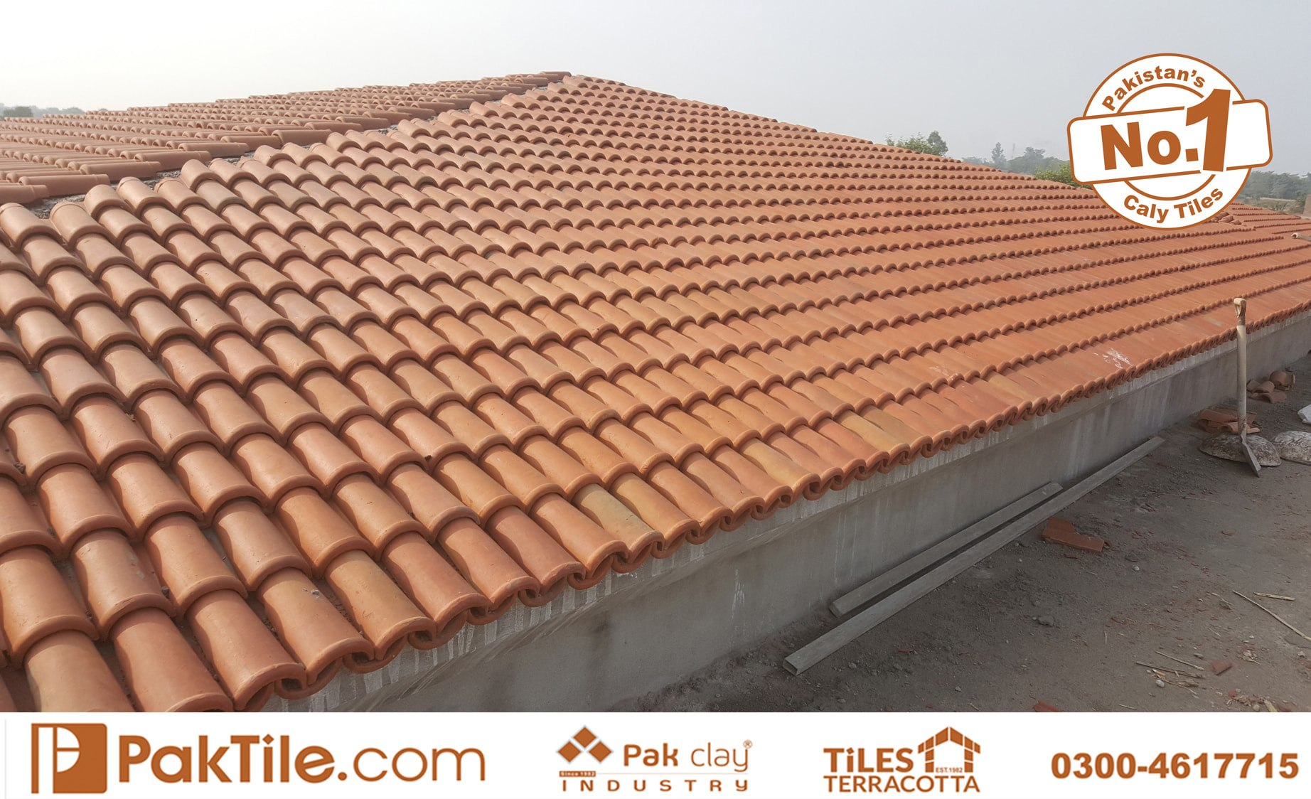 5 Pak Clay Terracotta Roofing Khaprail Tiles in Rawalpindi Images.