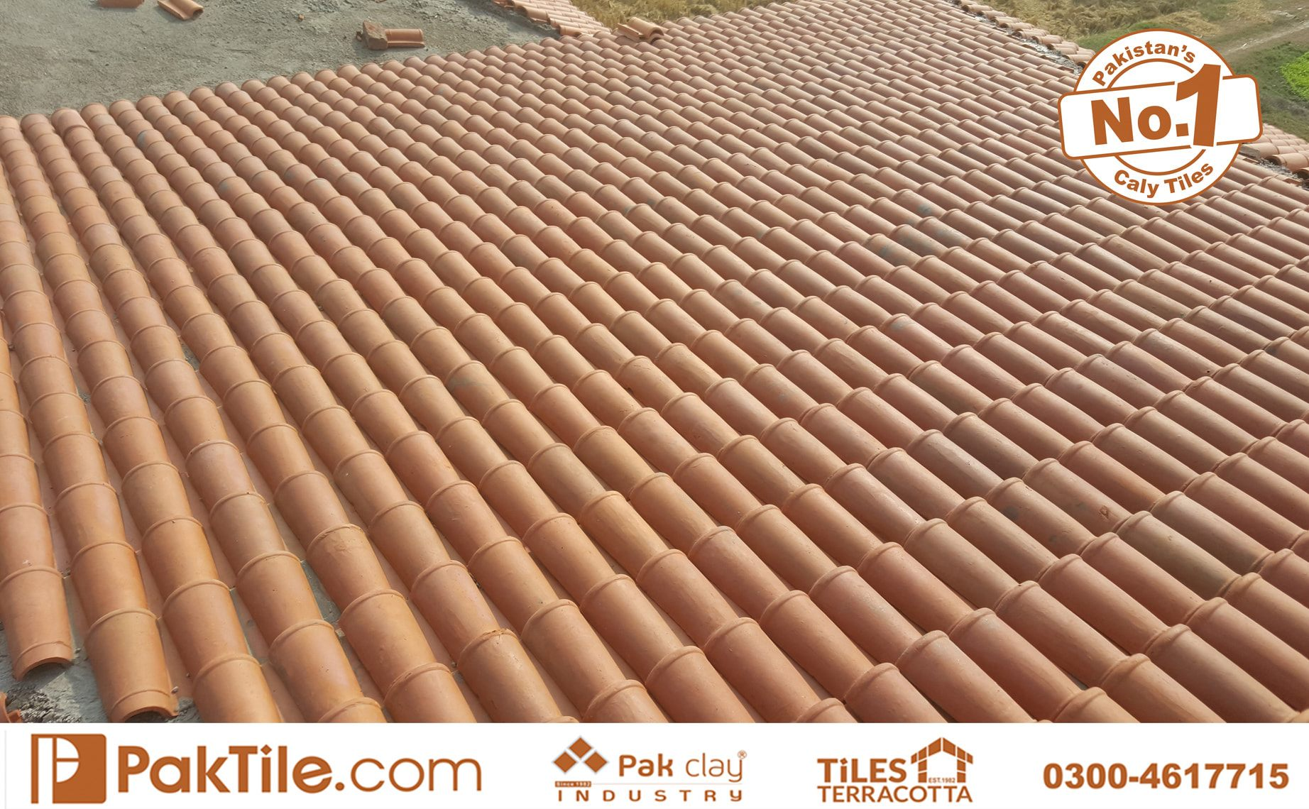 6 1 Pak Clay Terracotta Roofing Khaprail Tiles Price in Lahore Images.