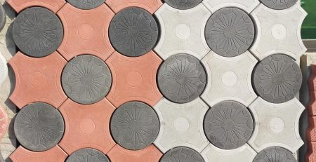 Circle Tuff Tiles Design in Pakistan Images