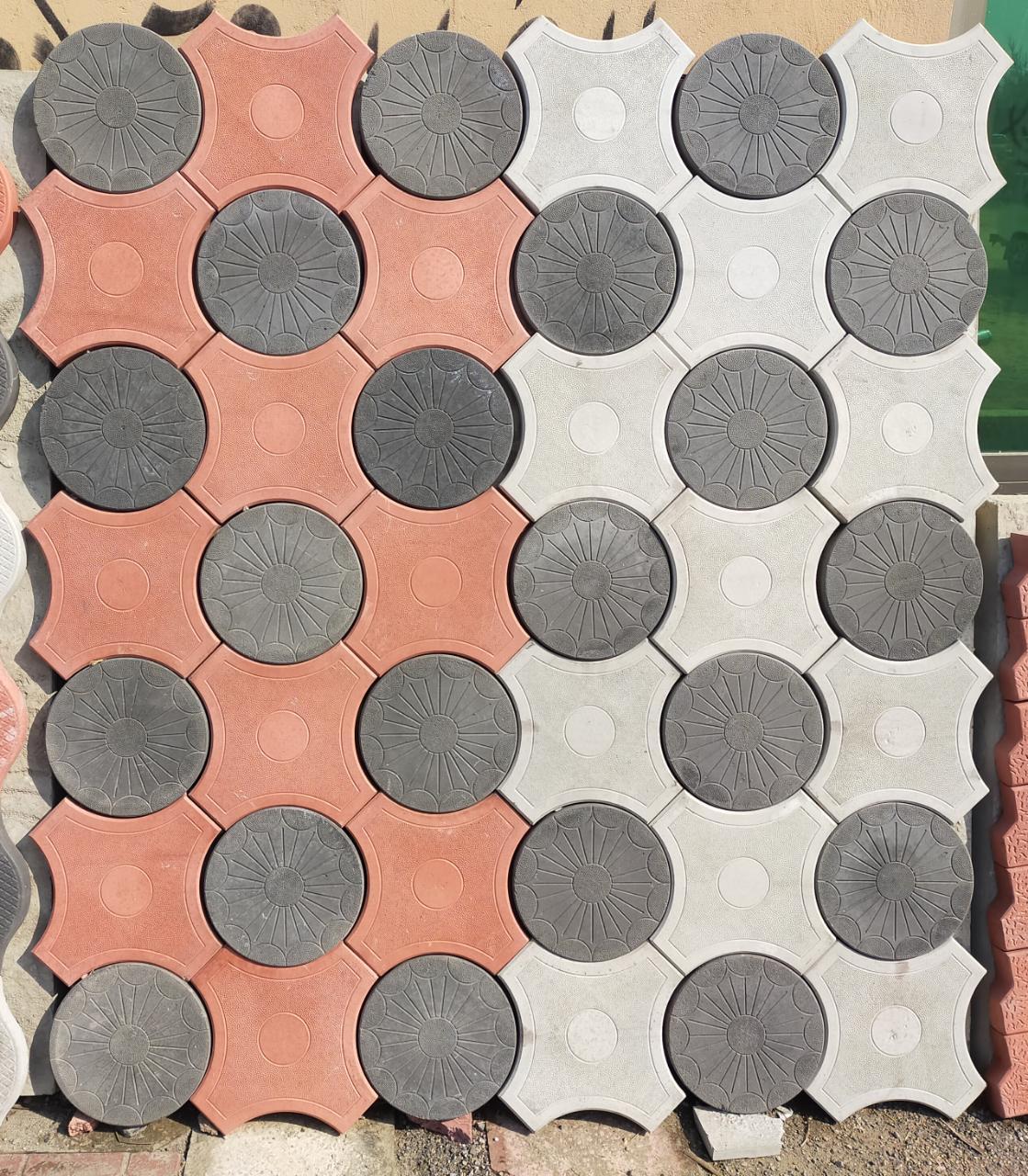 Circle Tuff Tiles Design in Pakistan Images