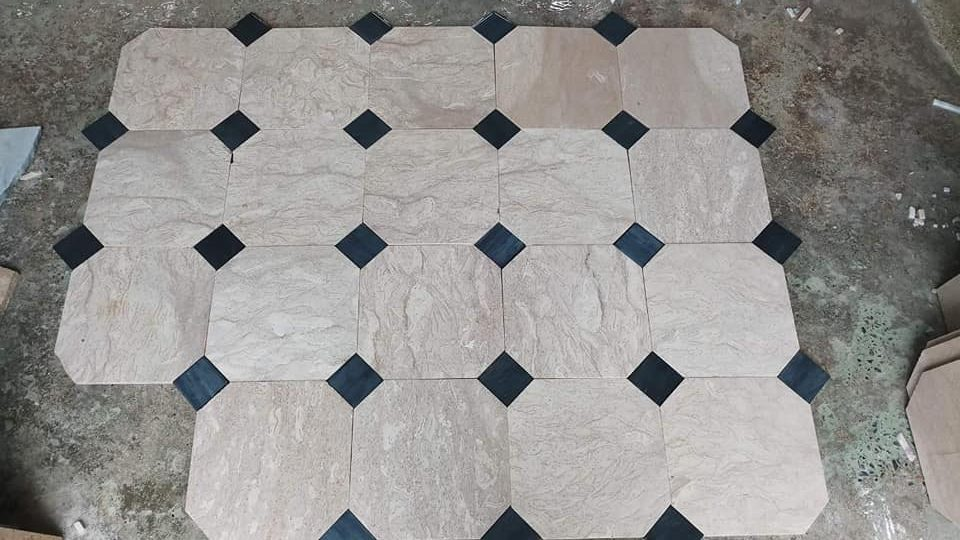 Pak Tiles Mosaic Marble Floor Design in Pakistan