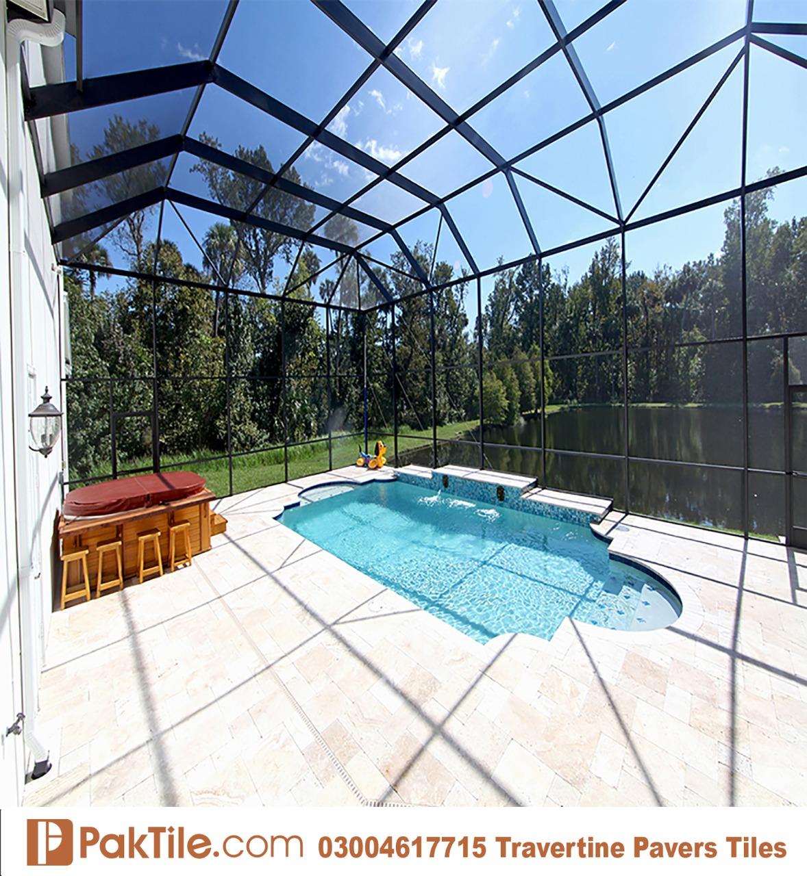 Pak Tiles Walnut Travertine Swimming Pool Pavers Tiles