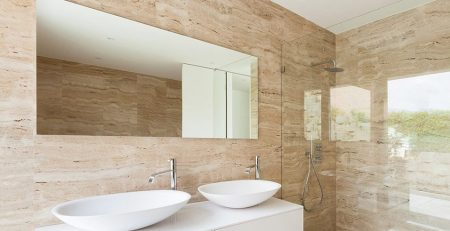 Pak Tiles ivory tumbled travertine wall tiles in lahore
