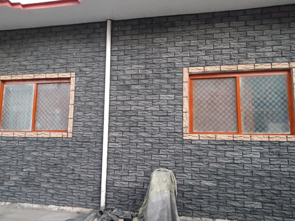 Black front elevation wall face tiles design price in pakistan