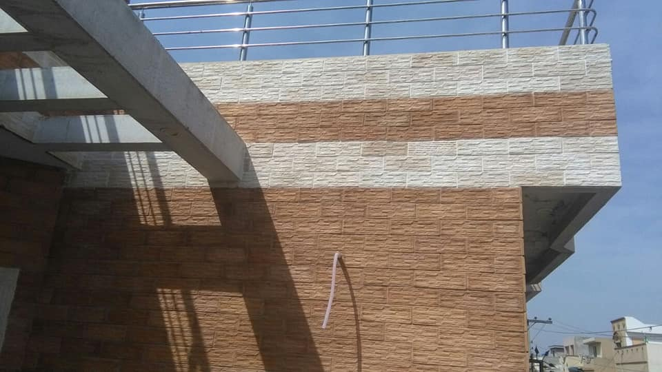 House front wall stone price in karachi face tile design in pakistan