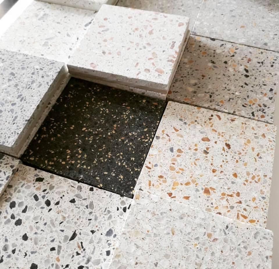 Pak black and white terrazzo flooring tiles price in lahore
