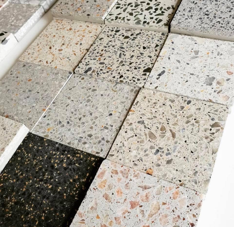 Pak different colors terrazzo floor tiles price in pakistan