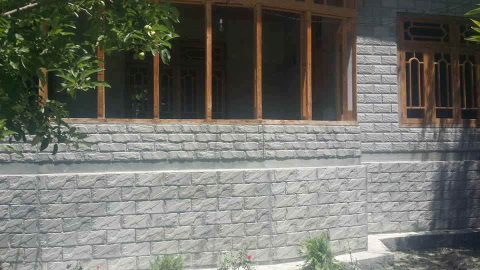 front elevation wall face tile design in pakistan