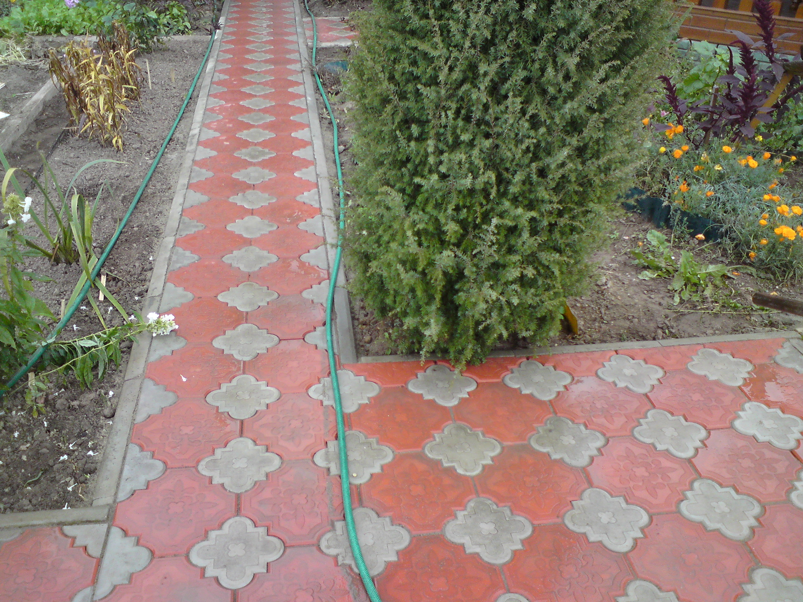 11 garden sidewalk concrete pavers tiles