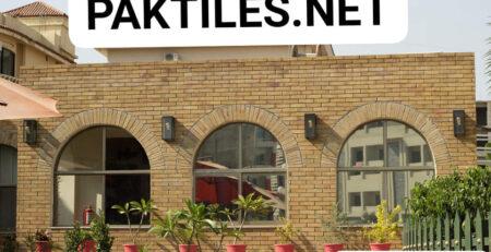 Pak Tiles Yellow Bricks Outdoor Wall Tiles Design Images in Karachi