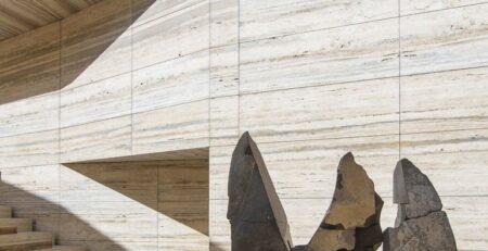 Exterior Travertine Marble Wall Tiles Texture in Multan Pakistan