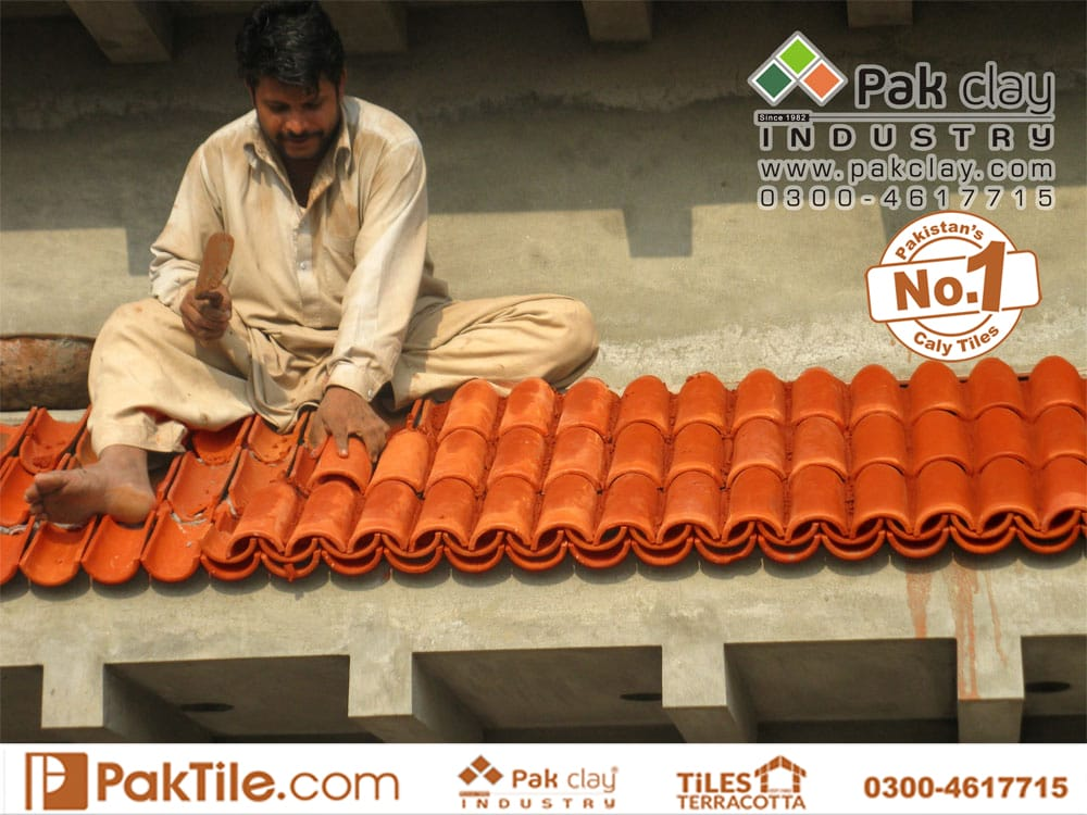 Natural Clay Khaprail Tiles in Islamabad Pakistan