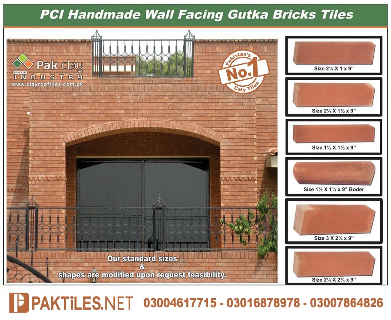 Red Gutka Bricks Size Brick Wall Tiles in Pakistan
