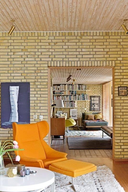 yellow color interior wall lahori gutka bricks in lahore