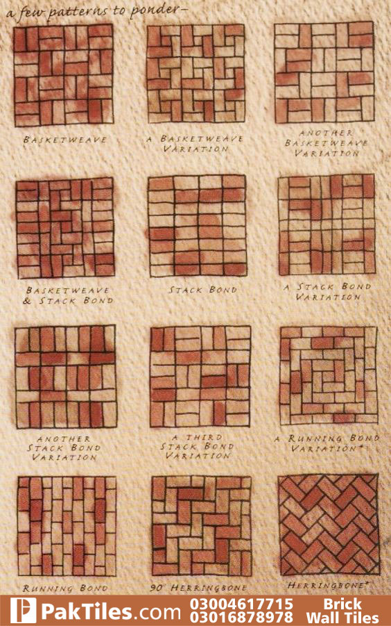 Red brick wall tiles in pakistan