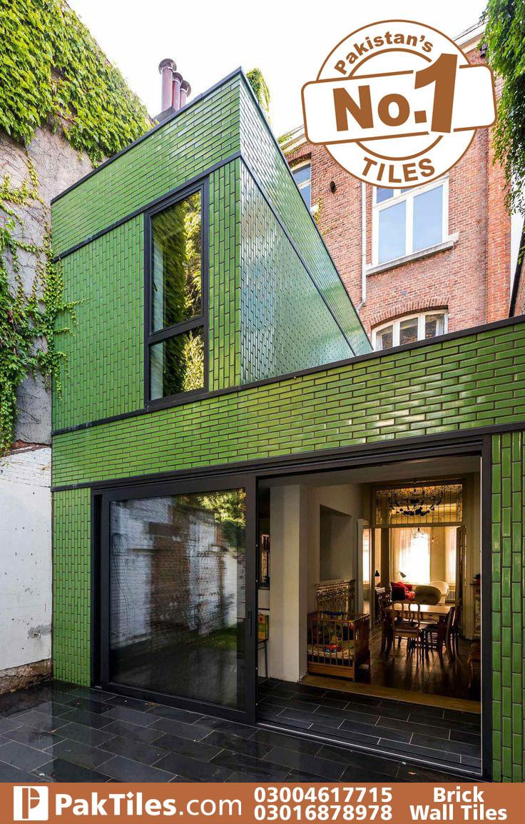 Brick wall cladding tiles design