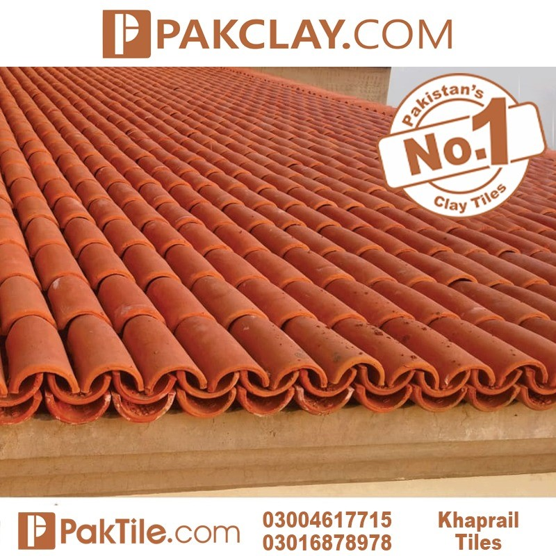 Natural Pak Clay Tiles Industry Khaprail Tiles Colors