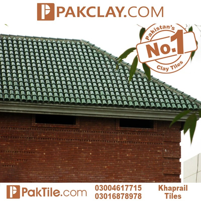 Green glazed khaprail tiles factory clay roof tiles