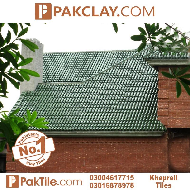 Green colour glazed khaprail tiles in Rawalpindi
