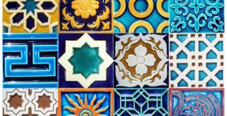 1 Pak clay blue multani tiles design islamabad