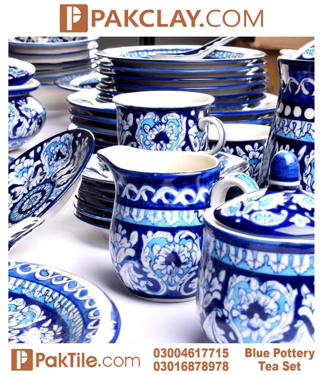 2 Multani Blue Pottery Tea Set in Karachi