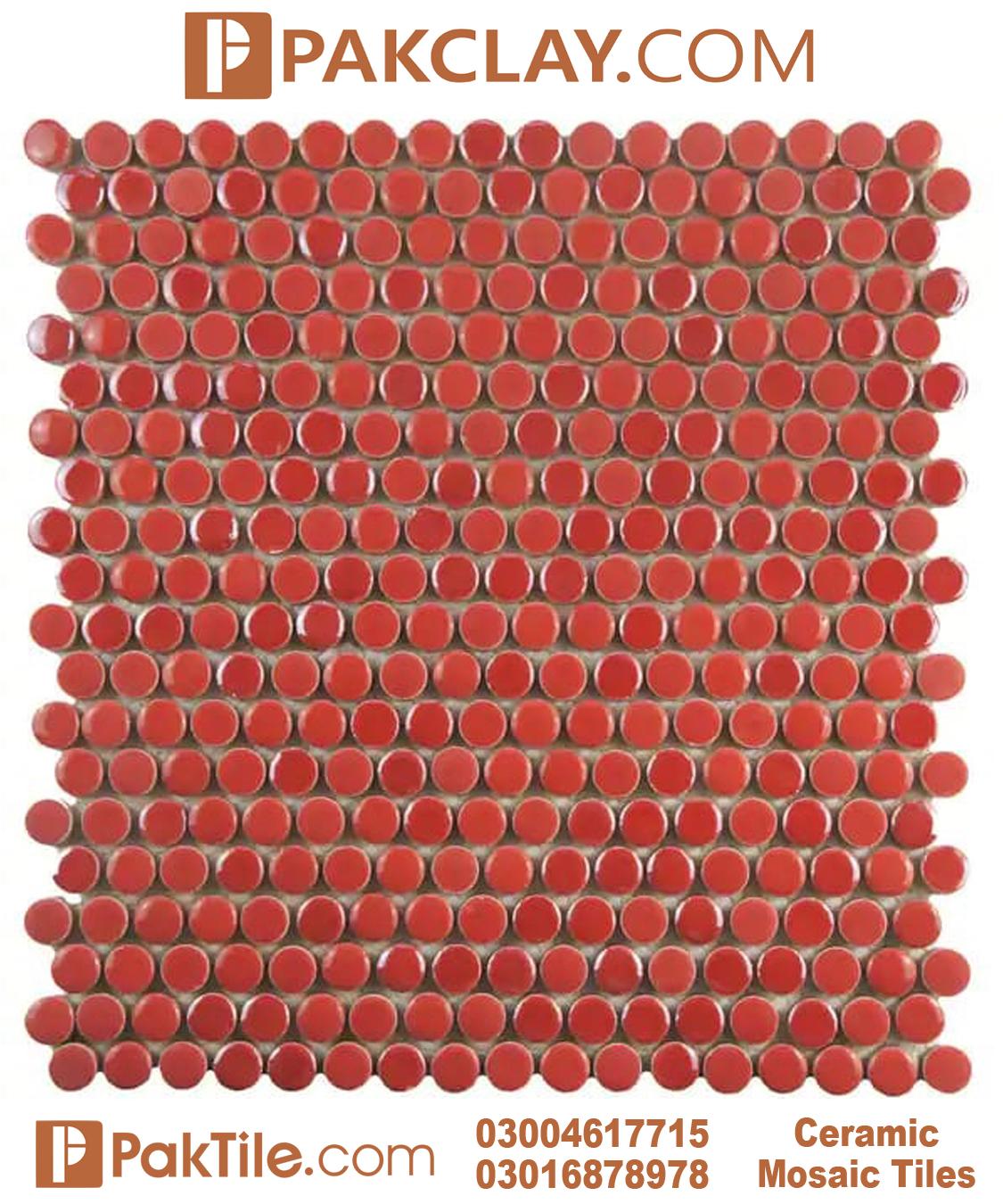 Red Color Ceramic Floor Tiles Design in Pakistan